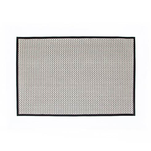 $495.00 Check Rug - 6\' X 9\'  - Black & White