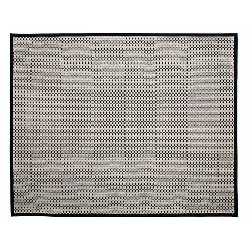 $895.00 Check Rug - 8\' X 10\' - Black & White