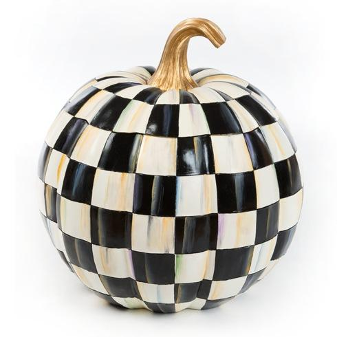 $495.00 Courtly Check Lidded Pumpkin - Great