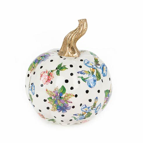 MacKenzie-Childs   Pumpkin - Mini - White $58.00