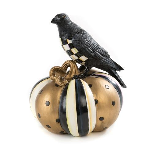 $125.00 Courtly Check Crow On Pumpkin