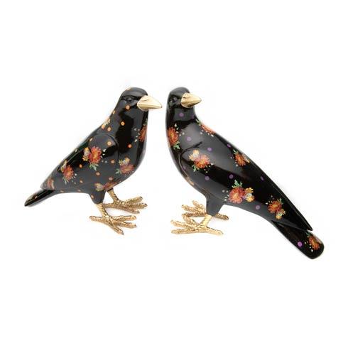 MacKenzie-Childs Flower Market Decor Flower Market Crows - Set of 2 $98.00