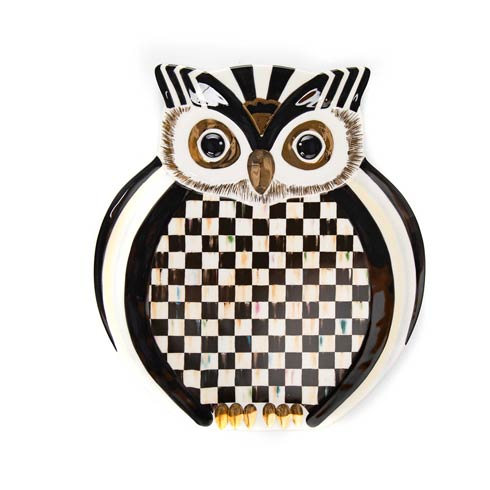 $98.00 Courtly Owl Platter