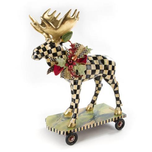 $475.00 Courtly Check Moose On Parade