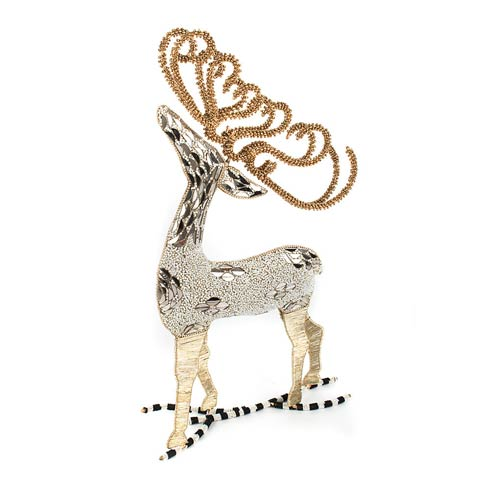 $98.00 Snowfall Beaded Deer