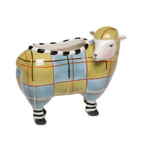 $62.00 Tartan Sheep Vase