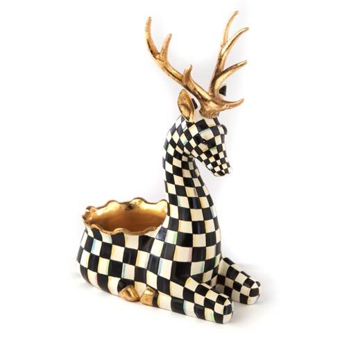$150.00 Courtly Check Deer Cachepot