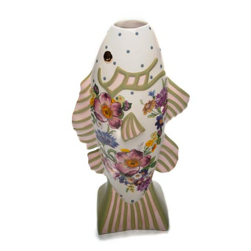 $125.00 Flower Market Fish - Short Vase