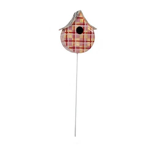 $72.00 Capiz Birdhouse Pick - Pink Plaid