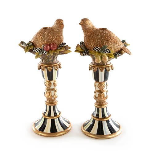 $250.00 Naturals Quail Candle Holders - Set of 2