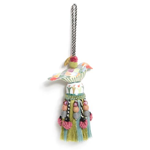 $80.00 Ceramic Bird Tassel - Harlequin