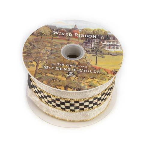 """$58.00 Courtly Velvet 3"""" Ribbon - Cream"""