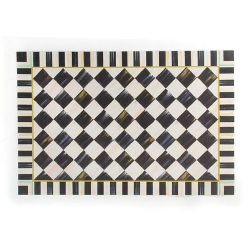 MacKenzie-Childs Courtly Check Decor Floor Mat - 2' x 3' $125.00