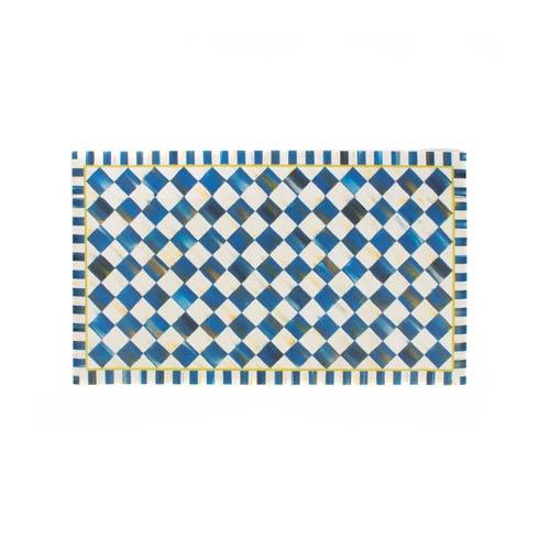 MacKenzie-Childs Royal Check Decor Floor Mat - 2\' X 3\' $128.00