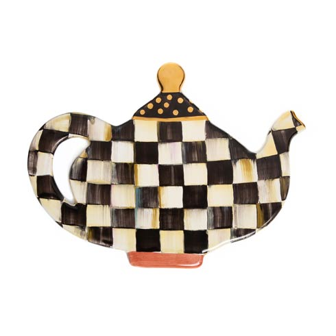 MacKenzie-Childs  Courtly Check Teapot Trivet $145.00