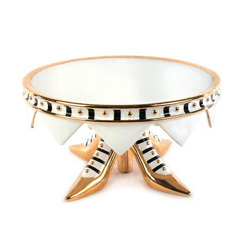 High Heel Shoe Cake Plate - Ivory & Gold