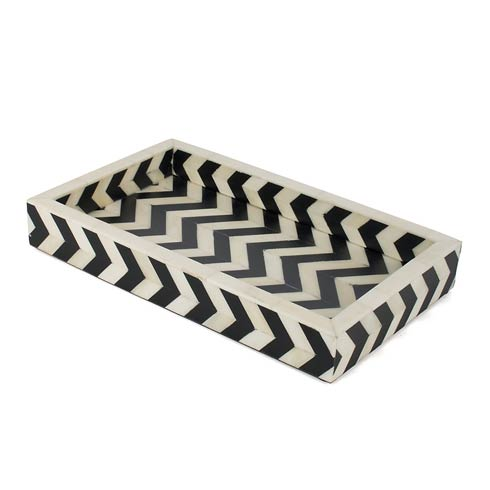 MacKenzie-Childs   Small Tray - Black & Ivory $175.00