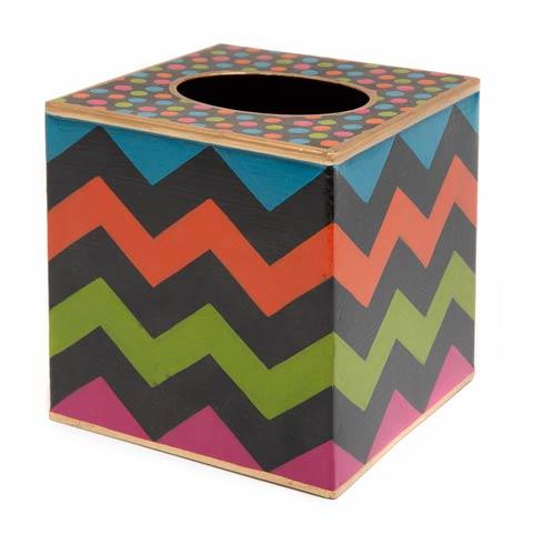 $62.00 Boutique Tissue Box Cover - Black