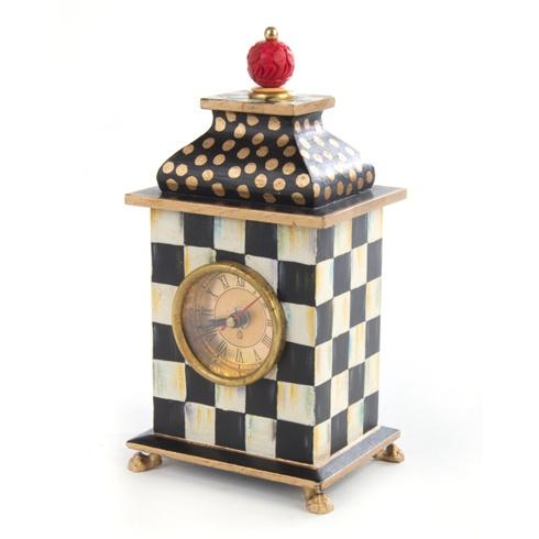 MacKenzie-Childs Courtly Check Decor Desk Clock $100.00