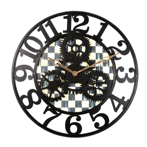 MacKenzie-Childs   Courtly Check Farmhouse Wall Clock - Small $135.00