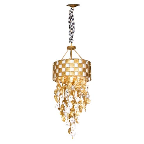 $1,595.00 Golden Check Chandelier - Small