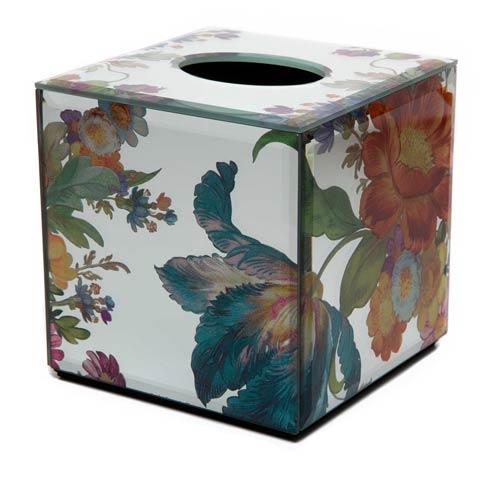 MacKenzie-Childs   Flower Market Reflections Boutique Tissue Box Cover $65.00