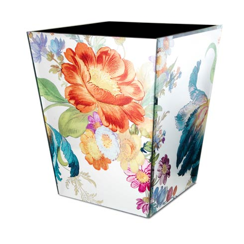 MacKenzie-Childs   Flower Market Reflections Waste Bin $135.00