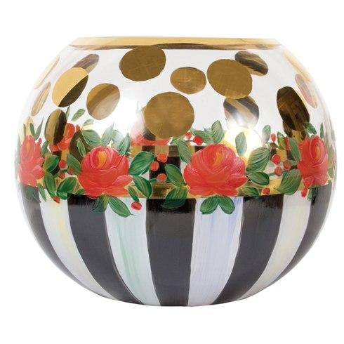 $45.00 Heirloom Glass Globe Vase - Medium