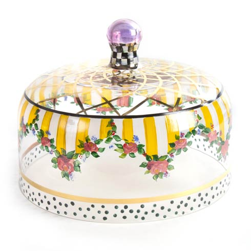 $355.00 Striped Awning Cake Dome