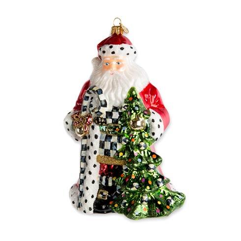 $88.00 Glass Ornament - Tree Farm Santa