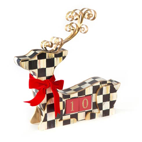 $68.00 Courtly Check Deer Countdown Calendar