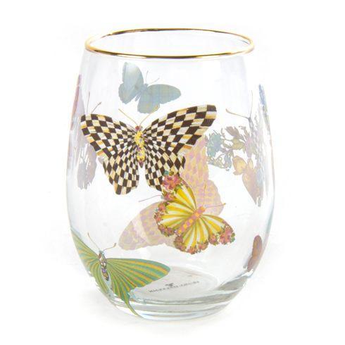 MacKenzie-Childs  Butterfly Garden Tumbler $46.00