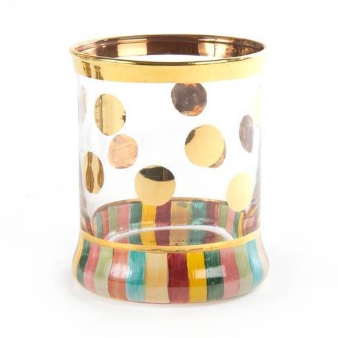 MacKenzie-Childs  Glass Foxtrot Tumbler $68.00