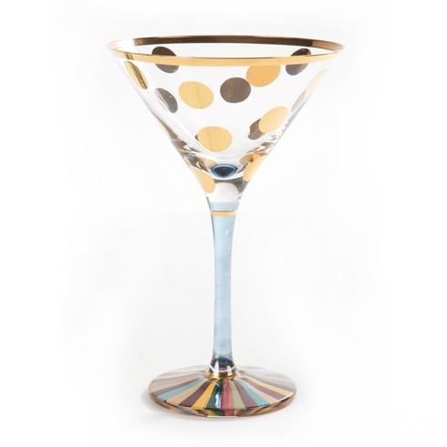 MacKenzie-Childs  Glass Foxtrot Martini Glass $72.00