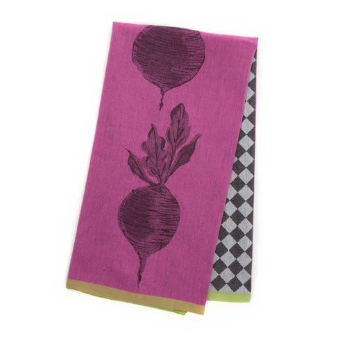 $15.00 Woven Dancing Beets Dish Towel