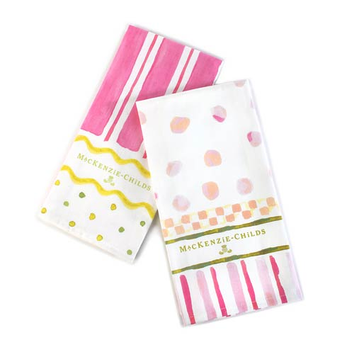 $30.00 Easter Stripe & Dot Dish Towels - Set Of 2