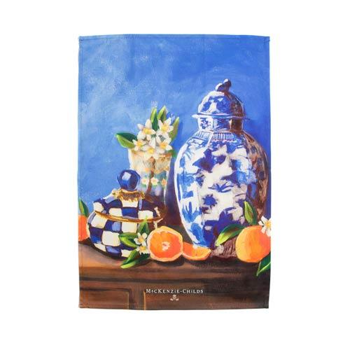$15.00 Royal Check Still Life Dish Towel - Vase