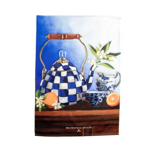 $15.00 Royal Check Still Life Dish Towel - Tea Kettle