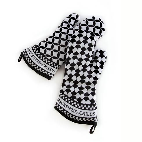 MacKenzie-Childs  Geo Oven Mitts - Black - Set Of 2 $45.00