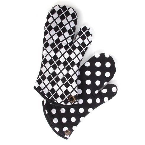 MacKenzie-Childs  Textiles Black & White Dot Oven Mitts - Set of 2 $38.00