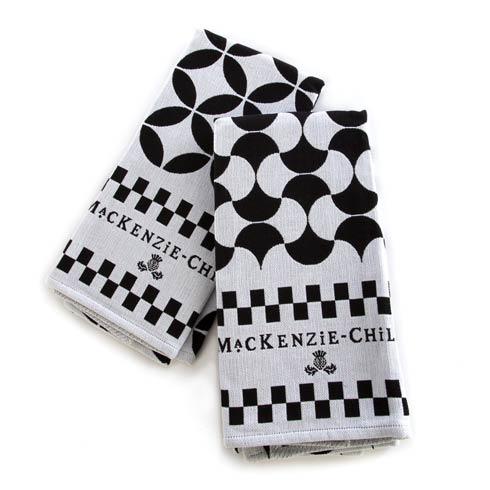 $50.00 Dish Towels - Black - Set Of 2