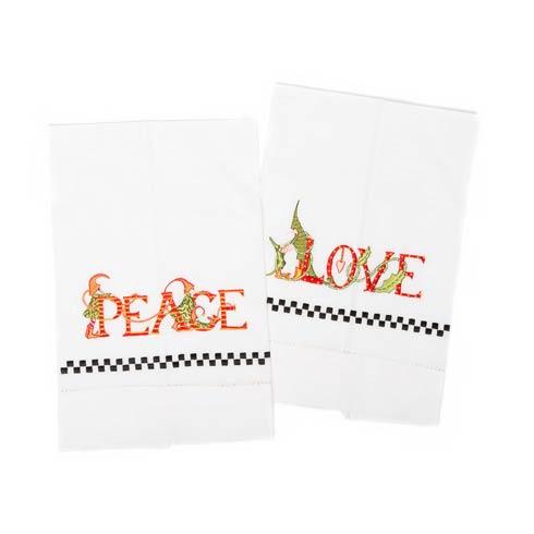 $28.00 Peace & Love Tea Towels - Set of 2