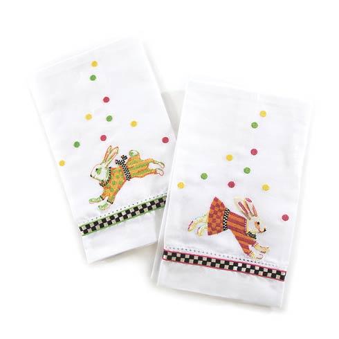 $30.00 Bunny Hop Guest Towels - Set Of 2