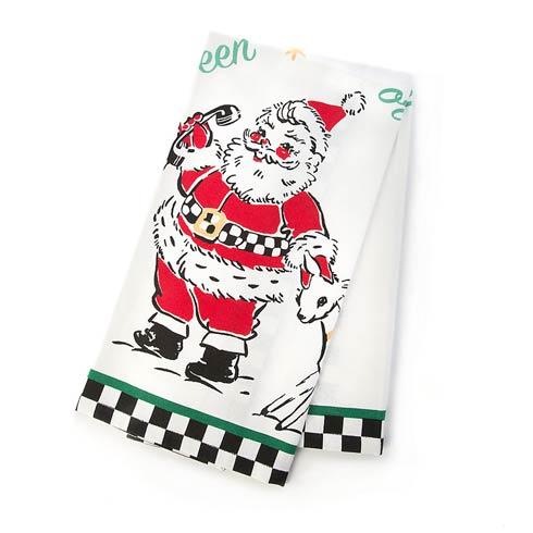 $15.00 Santa\'s Calling Dish Towel