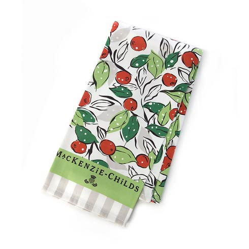 $15.00 Snow Cherry Dish Towel