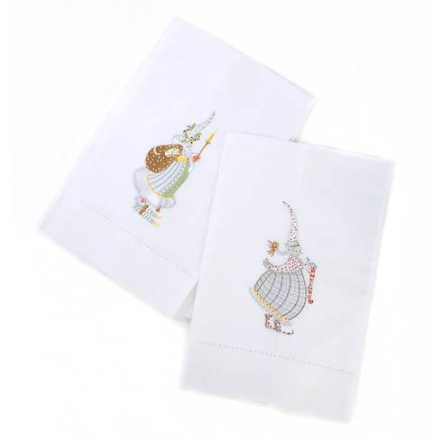 $28.00 Moonbeam Mr. & Mrs. Santa Tea Towels