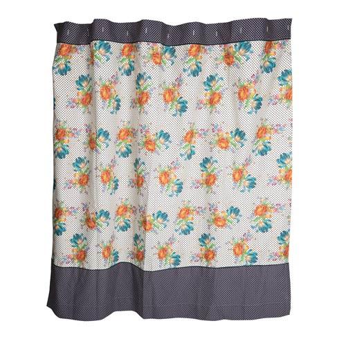 $218.00 Flowers & Dots Shower Curtain