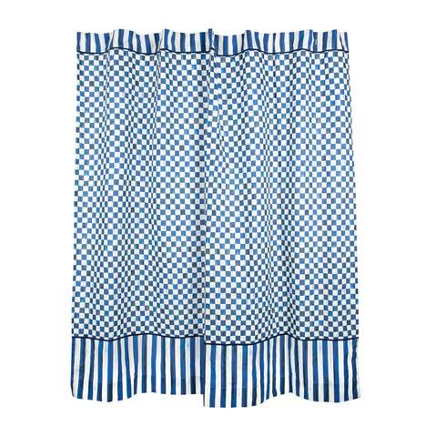 $218.00 Royal Check Shower Curtain
