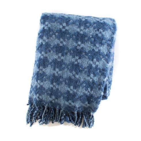 $68.00 Houndstooth Throw - Bluetopia