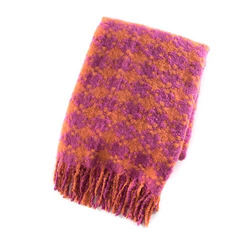 $68.00 Houndstooth Throw - Super Pink